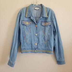 VTG Nancy Bolen City Girl Western Denim Jacket